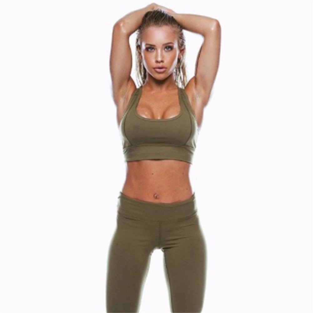 105f87aa1 Yoga Women Set Workout Clothing Gym Leggings Fitness Clothing Athletic ...
