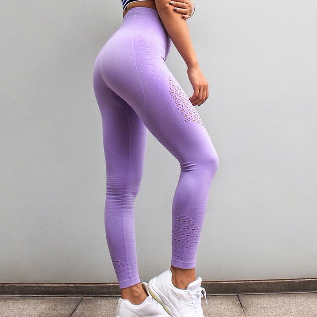 cb5bd79fb9 LANTECH Women Yoga Pants Sports Running Sportswear Stretchy Fitness  Leggings Seamless Tummy Control Gym Compression Tights Pants