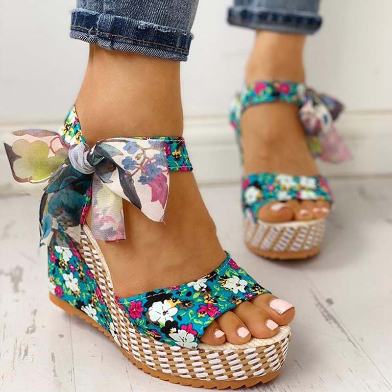 Beach Women Sandals Casual Lady Floral